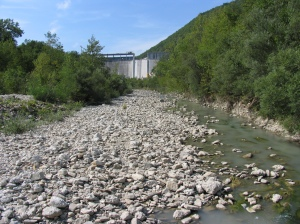 lavori alla diga di mignano valtolla