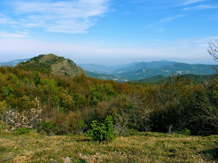 la vista panoramica dai monti del lama..