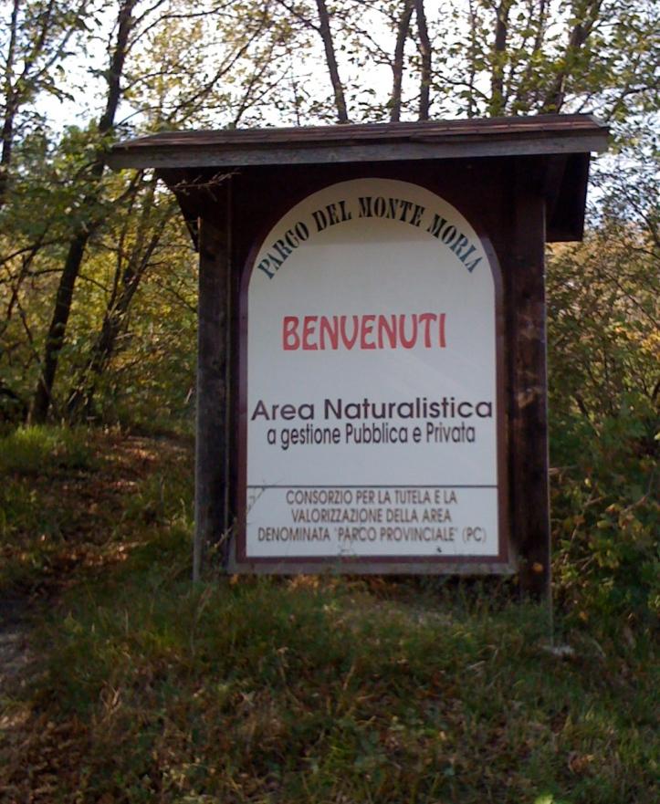 cartello segnaletico del parco provinciale