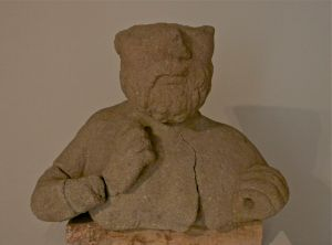 veleia: il giove ligure (reperto archeologico esposto nell'antiquarium)