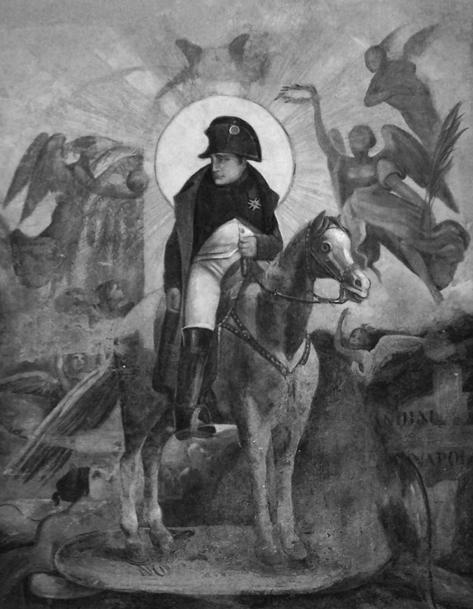 Napoleone in un affresco presso il palazzo comunale di Lugagnano