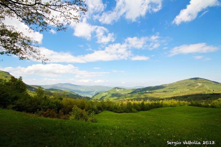 vista sulla valnure dal crinale nei pressi di Prato Barbieri (zona Colombello, Montelana)...una meraviglia della natura.