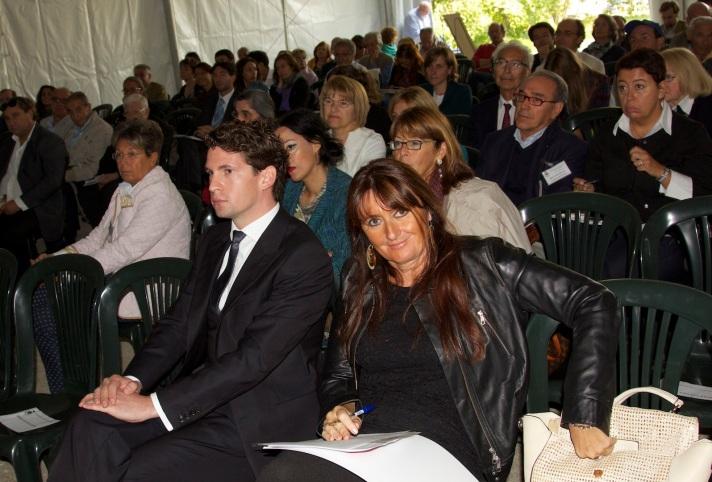 IV convegno di Veleia, in primo piano il sindaco del Comune di Lugagnano e l'assessore alla cultura del Comune di Piacenza (a destra nella foto)