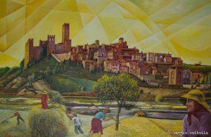parziale dell'opera di Luciano Molinari, grande pittore arquatese.