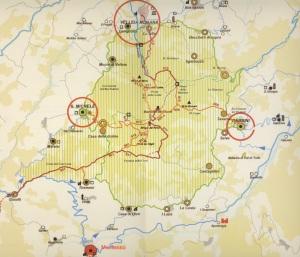 la cartina del parco (dallo studio provinciale del 2005)