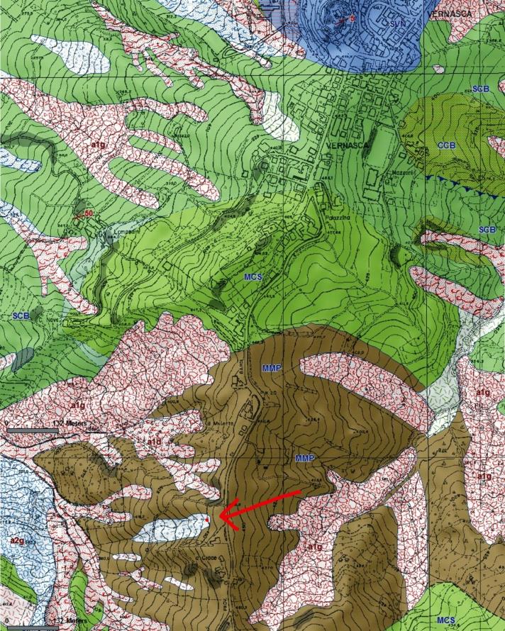 cartina geologica vernasca