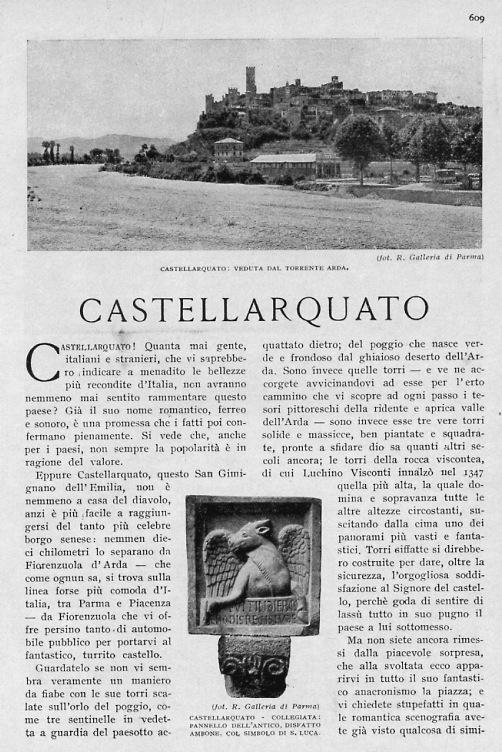 """estratto rivista """"le vie d'Italia"""" archivio Paolo Morlacchini"""