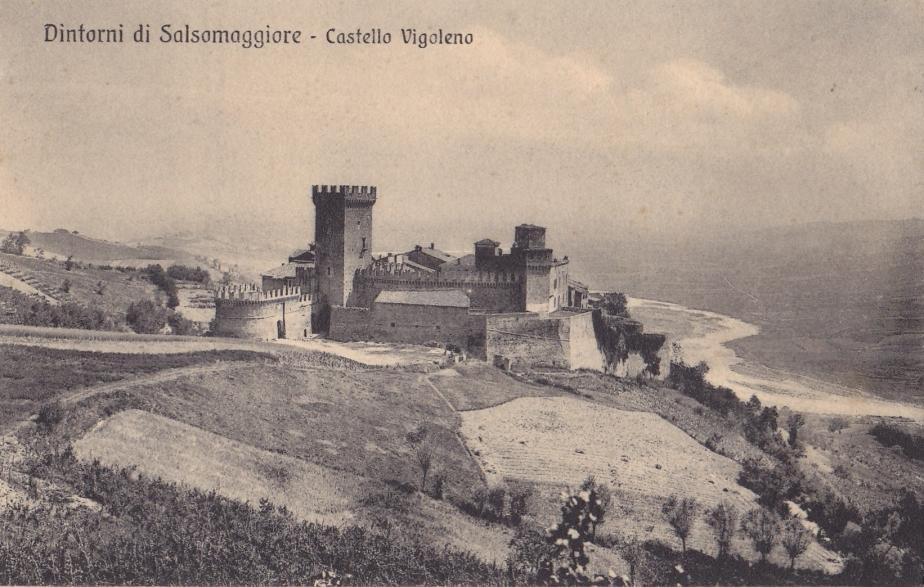 Cartolina di Vigoleno del 1929- collezione P.Morlacchini-