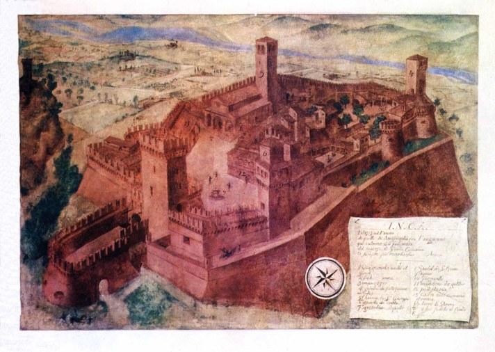 antica raffigurazione di vigoleno ripresa dal web