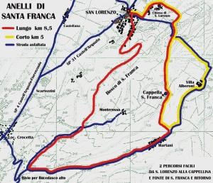cartina anelli San Lorenzo