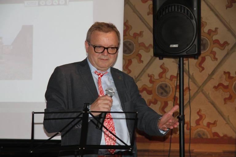 Massimo Pallastrelli, storico di Castell'Arquato, autore di un saggio sulla rivista